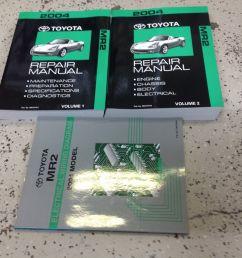 array toyota mr2 mr 2 service repair shop manual set w ewd oem workshop rh [ 1600 x 1600 Pixel ]