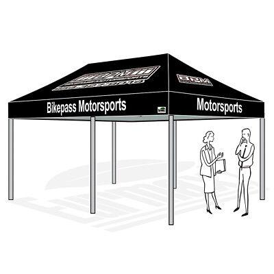 Patio Gazebo Tent 10x20 Commercial Ez Pop Up Canopy Custom Graphics LOGO Printed   eBay