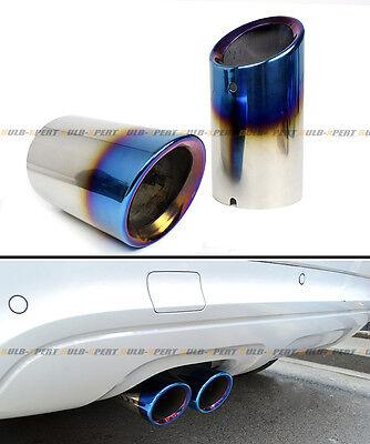 direct slide on neo chrome burnt steel muffler exhaust tips for audi a4 q3 q5 a3 ebay