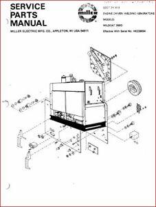 MILLER WILDCAT 350D SERVICE PARTS MANUAL EFF W / HK239694