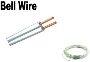White. 2 core. Bell wire. Flat. Cable. Bell chime