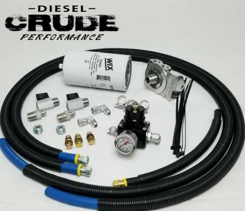 small resolution of 94 97 obs ford 7 3l powerstroke fuel filter bowl delete regulated return kit