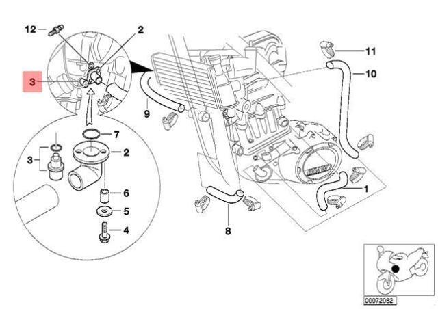 Genuine BMW C1N E31 E36 E38 E39 E52 Temperature Switch