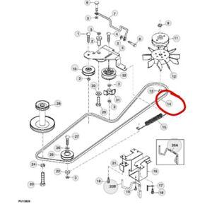 John Deere transmission gearbox drive belt LT150 LT160