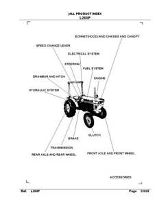 KUBOTA TRACTOR L260 SERVICE REPAIR MANUAL & PARTS MANUAL