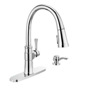 details about delta faucet spargo single handle kitchen sink faucet with pull down sprayer