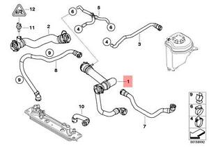 Genuine BMW E70 X5 Radiator Coolant Hose OEM 17127536230