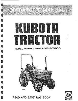 Kubota B5200, B6200, B7200 Operators Man. & ELEC. SYS