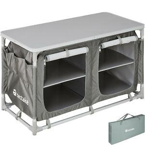 details sur armoire de camping aluminium mobilier cuisine placard table d exterieur pliable