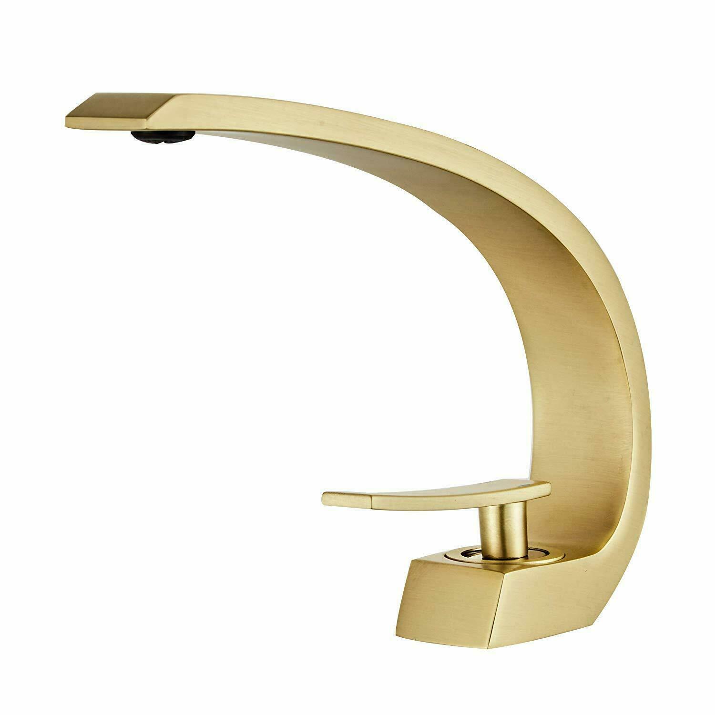 modern bathroom vessel sink faucet long