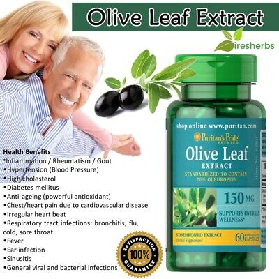 OLIVE LEAF EXTRACT 150mg Viral Infection Immunity Flu ...