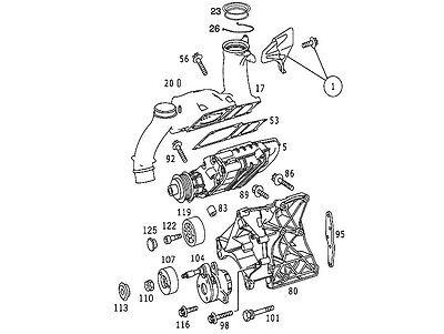 01 02 03 04 05 Mercedes C230 SLK230 kompressor BELT
