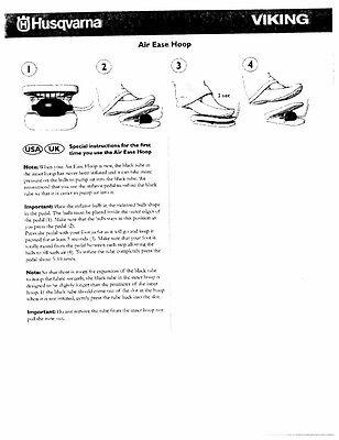 Husqvarna Viking Air Ease Hoop User Owners Manual Reprint