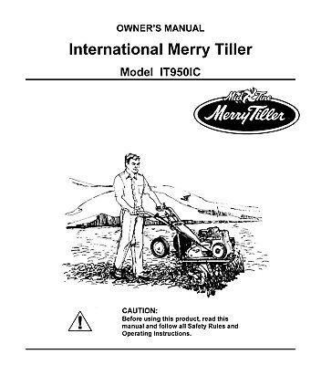 Merry Tiller 950 IT950IC Operator Instruction Maintenance