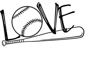 Download Custom Vinyl Car Decal Baseball LOVE Ball Bat Stitches ...
