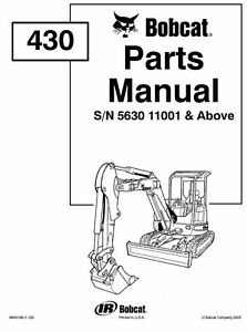 BOBCAT 430 SKID STEER LOADER 2 X Service & Parts MANUALs