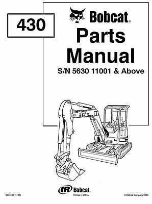 BOBCAT 430 SKID STEER LOADER 2 X Service & Parts MANUALs