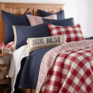 details about bee and willow home sawyer pillow sham buffalo plaid red standard new