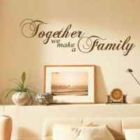 Together We Make a Family Wall Sticker Quotes Wall Art ...