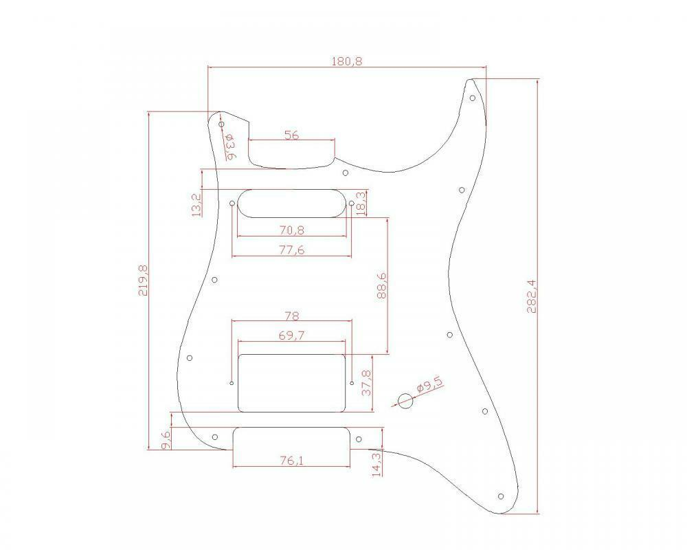 Guitar Pickguard for Fender Stratocaster Strat Blue Pearl