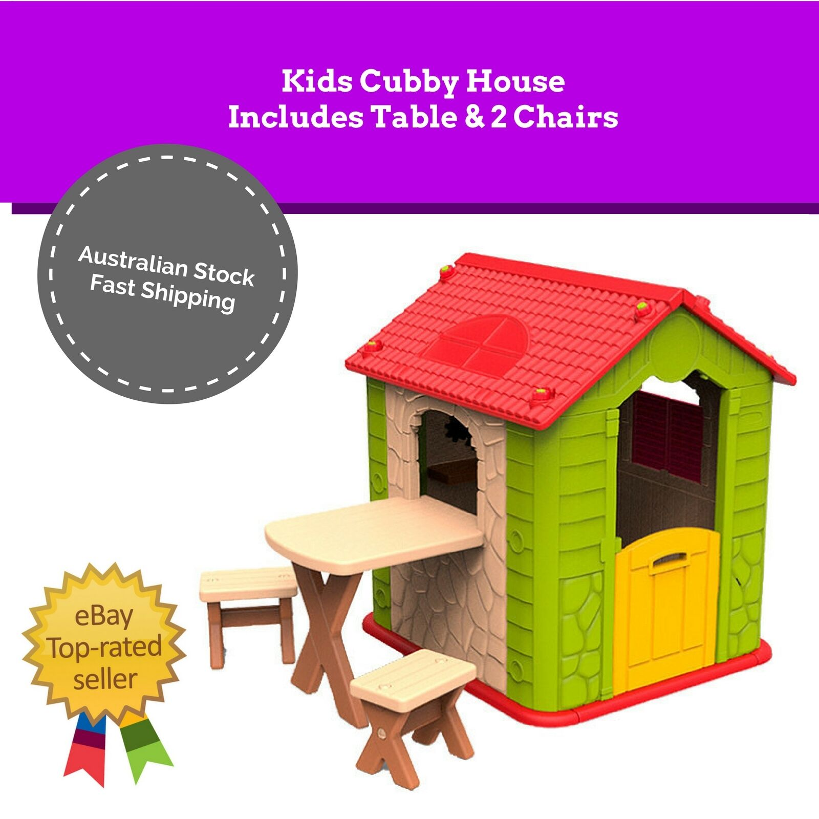 kids indoor table and chairs velvet chair pads new cubby house outdoor playhouse pretend play