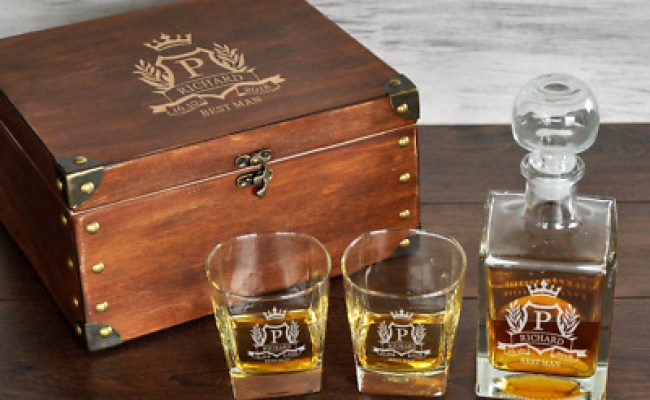 Best Man Gift Personalized Whiskey Decanter Set Birthday