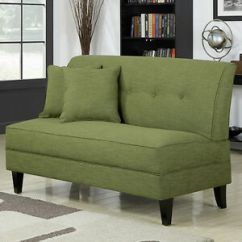 Settee Living Room Ideas With Dark Grey Couch Armless Loveseat Apple Green Wood Sofa Bench Image Is Loading