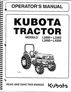 Kubota L2900, L3300, L3600, L4200 Tractor + Loader