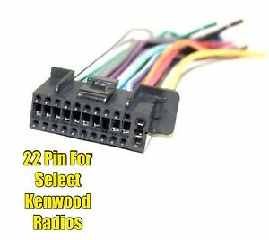 Car Stereo Radio Replacement Wire Harness Plug For Select Kenwood