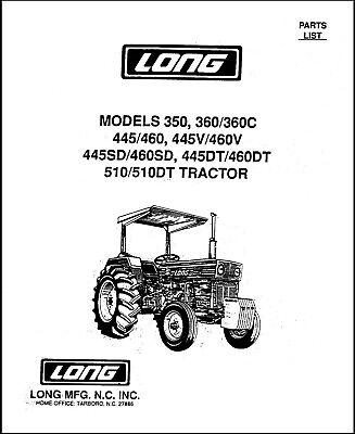 LONG 360 460 510 TRACTOR PARTS CATALOG MANUAL BOOK