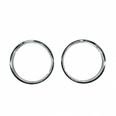 Headlight Bezels with Chrome Trim for 1997-2006 Jeep