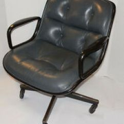 Pollock Executive Chair Replica Lounge Umbrella Vintage Knoll Arms 1 Pair Ebay Item 4 Gray Leather Casters Black Back