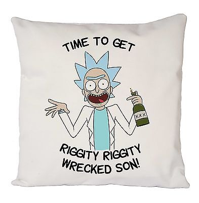 funny rick and morty cushion cover pillow case retro fashion ideal gift present ebay