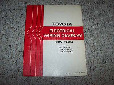 1983 toyota land cruiser fj40 fj60 electrical wiring diagram manual 42l  6cyl  ebay