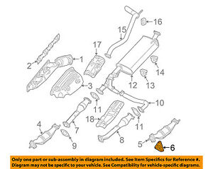 2002 nissan sentra exhaust diagram 4ch amp wiring oem front muffler gasket 2069130p0a ebay image is loading