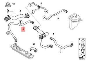 Genuine BMW E70 X5 Radiator Coolant Hose OEM 17127544549