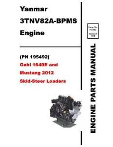 Gehl 1640E & Mustang 2012 Skid-Steer Loaders Engine Parts