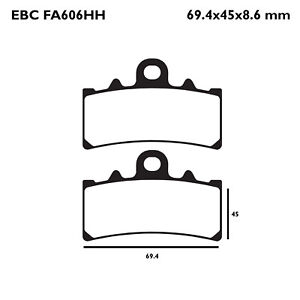 EBC FA606HH Replacement Brake Pads for Front KTM RC 390 14