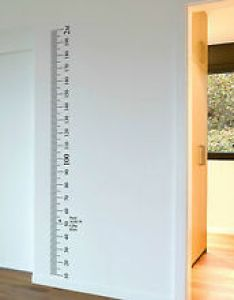 Image is loading ruler wall vinyl decal sticker growth chart diy also wooden vintage rh ebay