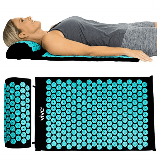 vive acupressure mat bed of nails massage pillow pad full body massager cushion