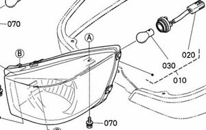 Kubota Head Light LH Headlight Assembly 6C430-54130 Fits
