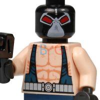 LEGO Batman ORIGINAL Bane Minifig Minifigure w/ Tommy Gun ...