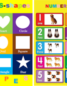Image is loading  childrens kids chart numbers also  basic shapes  size rh ebay