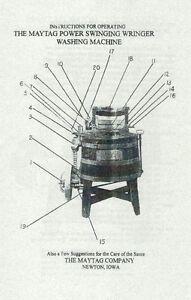 Maytag Gas Engine Motor Wringer Washer Washing Machine