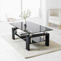 Modern Table For Living Room Beach House Interior Design Coaster 704988 Chrome Finish U Shaped Contemporary Coffee With Black Rectangle Glass Lower Shelf
