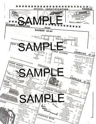 1961 CHEVROLET IMPALA BELAIR BISCAYNE BODY PARTS LIST