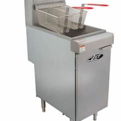 Kitchen Fryer Cabinets St Louis Commercial 40lb 3 Tube Floor Gas Deep 90 000btu Hr Lp Image Is Loading