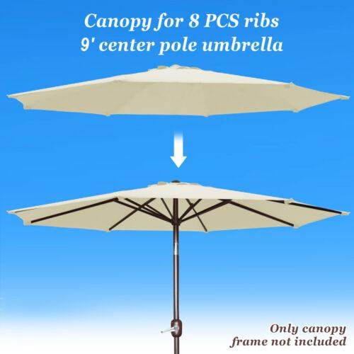 yard garden outdoor living items 9ft 8 rib patio umbrella cover canopy replacement ployester top outdoor garden structures shade equipment