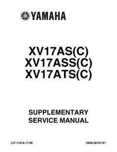 Yamaha Road Star XV17 AS ASS ATS C 2004-2007 Supplement