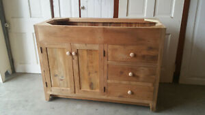 Bathroom Vanity 48 Reclaimed Barnwood Vanity Drawers Left Or Right Rustic Ebay